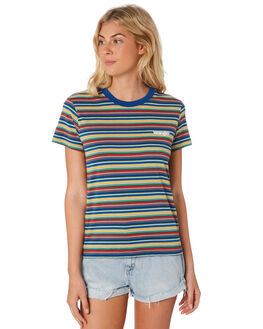 MULTI STRIPE WOMENS CLOTHING WRANGLER TEES - W-951136-772MUL