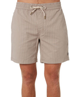 TAN STRIPE MENS CLOTHING BARNEY COOLS SHORTS - 611-CC4TANST