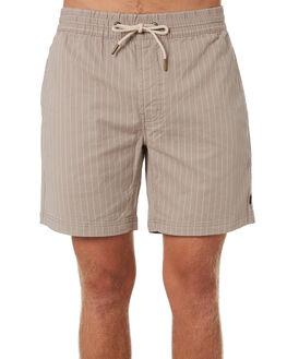 TAN STRIPE MENS CLOTHING BARNEY COOLS SHORTS - 611-CC4TANST
