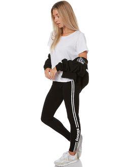 BLACK WOMENS CLOTHING STUSSY PANTS - ST176608BLK