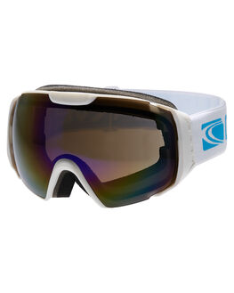 WHT YELLOW REVO SNOW ACCESSORIES CARVE GOGGLES - 6042WHTYE
