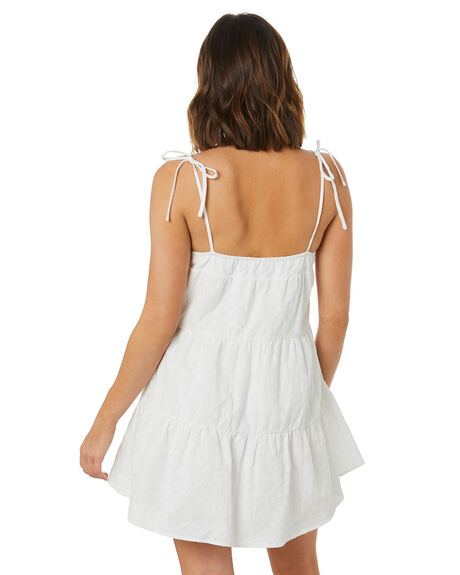 WHITE WOMENS CLOTHING THE HIDDEN WAY DRESSES - H8222446WHT
