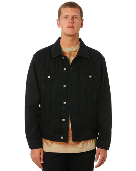 BLACK MENS CLOTHING THRILLS JACKETS - TDP-231BBLK