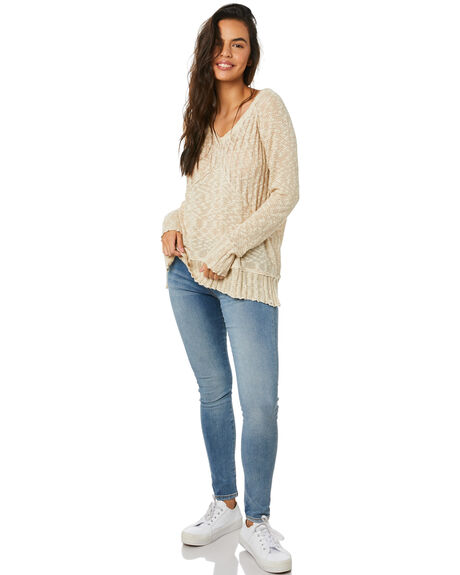 NATURAL WOMENS CLOTHING RIP CURL KNITS + CARDIGANS - GSWHN10031