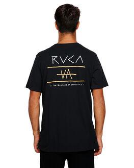 BLACK MENS CLOTHING RVCA TEES - RV-R191047-BLK