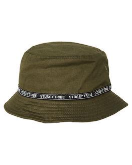 875788fdf97 FLIGHT GREEN MENS ACCESSORIES STUSSY HEADWEAR - ST795026FLGRN. STUSSY 1 La Tribe  Bucket Hat