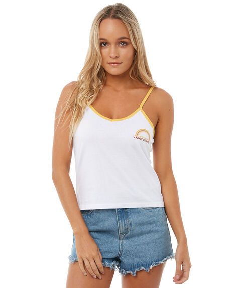 WHITE WOMENS CLOTHING AFENDS SINGLETS - W181087WHT