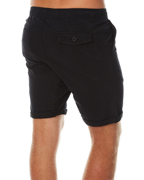 BLACK MENS CLOTHING SWELL SHORTS - SW-W16-008BLK