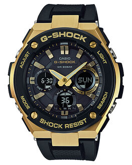 GOLD BLACK MENS ACCESSORIES G SHOCK WATCHES - GSTS100G-1A