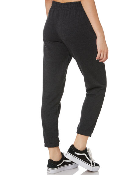 BLACK HEATHER PINK WOMENS CLOTHING HURLEY PANTS - CW3264033