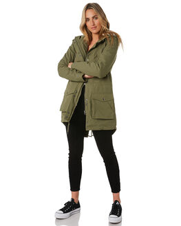 ARMY COMBO WOMENS CLOTHING VOLCOM JACKETS - B1531950ARC