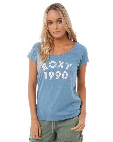 BLUE SHADOW WOMENS CLOTHING ROXY TEES - ERJZT04175BKQ0