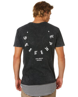 WASHED BLACK MENS CLOTHING SILENT THEORY TEES - 4044035WBLK
