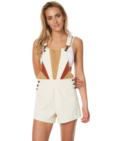 CREAM WOMENS CLOTHING AFENDS PLAYSUITS + OVERALLS - 51-02-095CRM