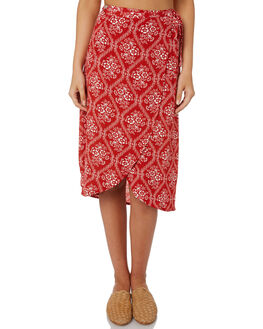 RED OUTLET WOMENS SWELL SKIRTS - S8188471RED