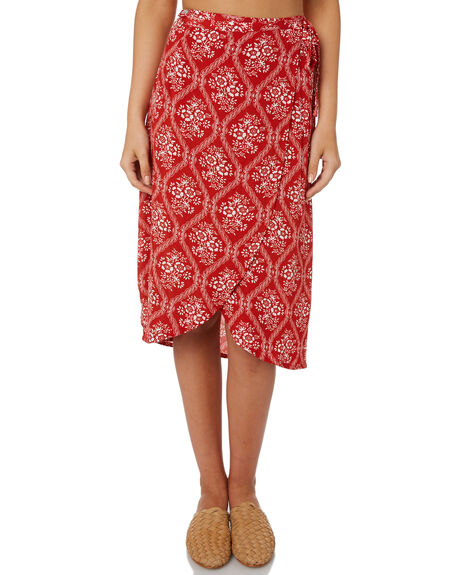 RED WOMENS CLOTHING SWELL SKIRTS - S8188471RED