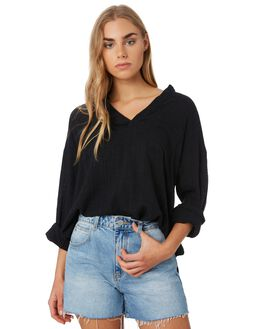 BLACK WOMENS CLOTHING RIP CURL FASHION TOPS - GSHFQ10090