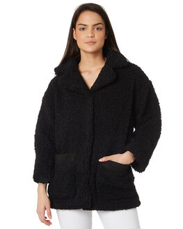 BLACK WOMENS CLOTHING MINKPINK JACKETS - MP1801481BLK