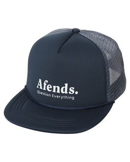 NAVY MENS ACCESSORIES AFENDS HEADWEAR - 13-01-051NVY