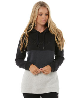 BLACK WOMENS CLOTHING HURLEY JUMPERS - AGFLMOD900A