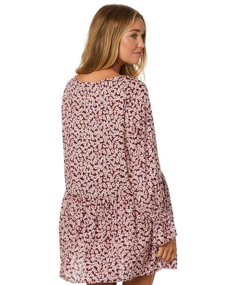 WINE FLEUR WOMENS CLOTHING LILYA DRESSES - RVD2061-FL