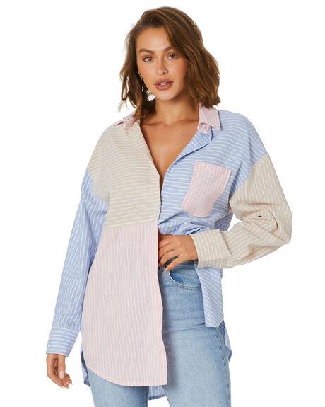 MULTI STRIPE WOMENS CLOTHING SNDYS FASHION TOPS - SFT232MUL