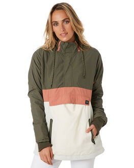 OLIVE WOMENS CLOTHING RIP CURL JACKETS - GJKAE90058