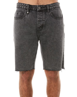 STONED BLACK MENS CLOTHING THRILLS SHORTS - TDP-314SBSTBLK