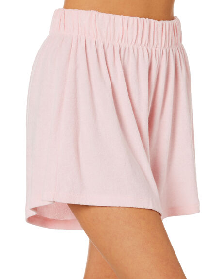 BABY PINK WOMENS CLOTHING STUSSY SHORTS - ST1M0184BPK