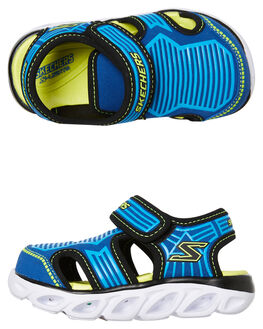 BLUE LIME KIDS BOYS SKECHERS THONGS - 90524NBLLM