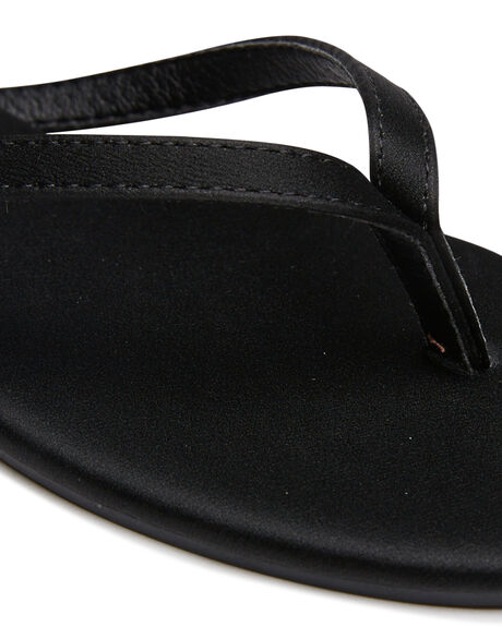 BLACK SMOOTH OUTLET WOMENS THERAPY FASHION SANDALS - SOLE-2030BLK