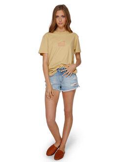 YELLOW FADE WOMENS CLOTHING BILLABONG TEES - BB-6591003-YLF