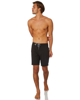 BLACK MENS CLOTHING RHYTHM BOARDSHORTS - JAN19M-TR09-BLK