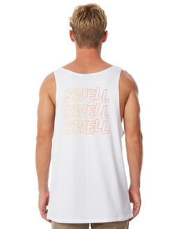 WHITE OUTLET MENS SWELL SINGLETS - S5184271WHITE