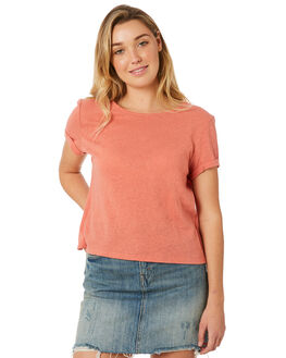 BURNT ROSE WOMENS CLOTHING MINKPINK TEES - MP1803010BRSE