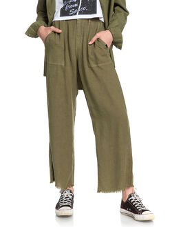 BURNT OLIVE WOMENS CLOTHING QUIKSILVER PANTS - EQWNP03008-GPZ0