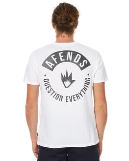 WHITE MENS CLOTHING AFENDS TEES - 01-01-278WHT