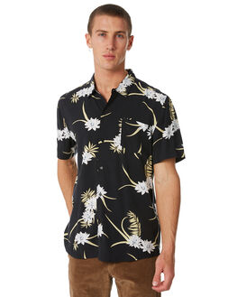 BLACK MENS CLOTHING SWELL SHIRTS - S5184181BLACK