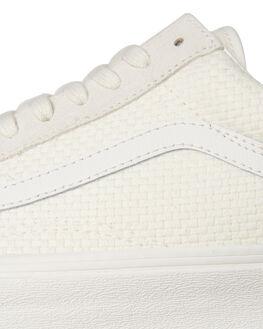 MARSHMALLOW WHITE WOMENS FOOTWEAR VANS SNEAKERS - SSVNA38G1VMTMWHTW