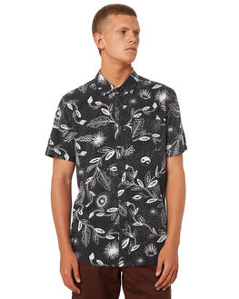 BLACK MENS CLOTHING VOLCOM SHIRTS - A0421801BLK