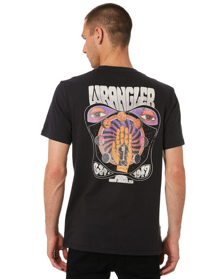 WORN BLACK MENS CLOTHING WRANGLER TEES - W-901792-082