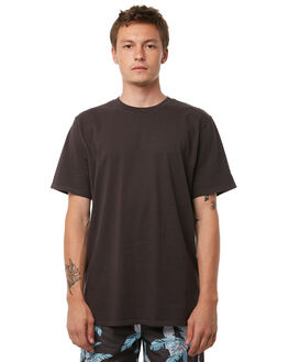 WASHED BLACK OUTLET MENS NO NEWS TEES - N5182005WSHBK