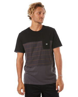 BLACK MENS CLOTHING BILLABONG TEES - 9585018BLK