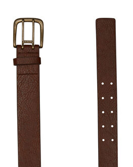 DARK TAN MENS ACCESSORIES RUSTY BELTS - BEM0496DKT