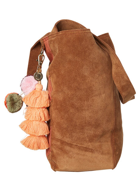 COGNAC SUEDE WOMENS ACCESSORIES THE WOLF GANG BAGS + BACKPACKS - TWGAW19A03-COCOG