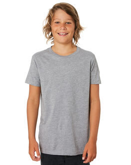 GREY MARLE KIDS BOYS AS COLOUR TOPS - 3006-GRYM