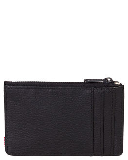 BLACK PEBBLE LEATHER MENS ACCESSORIES HERSCHEL SUPPLY CO WALLETS - 10397-01885-OSBLKPB