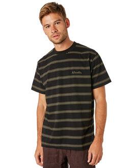 BLACK MENS CLOTHING AFENDS TEES - M183102BLK