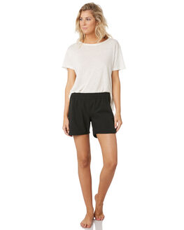 BLACK WOMENS CLOTHING RUSTY SHORTS - BSL0367BLK