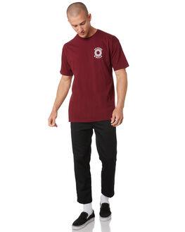 BURGUNDY MENS CLOTHING SPITFIRE TEES - 51010614ABURG